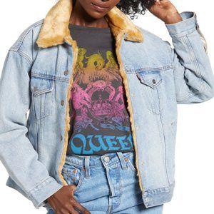 NWT Levi's Reversible Denim / Faux Fur Jacket